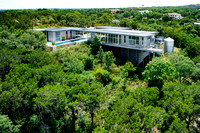 Bluff house-aerial photography